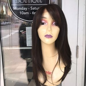 Accessories - Brown Mix Swisslace Lacefront Bangs wig